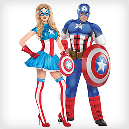 >American Dream and Captain America Costumes