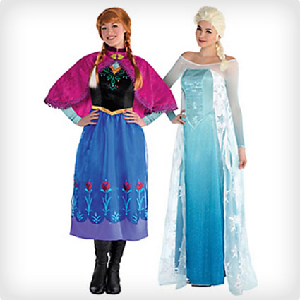 Anna and Elsa Couples Costumes