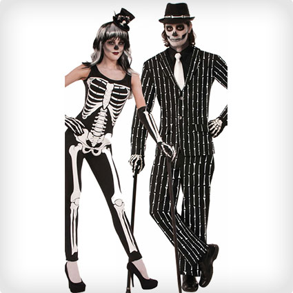 Bone Print Skeleton Costumes
