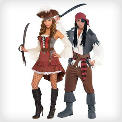 Castaway Pirate Couples Costumes