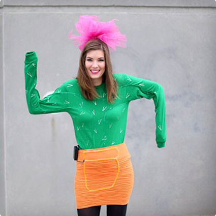 DIY Cactus Halloween Costume