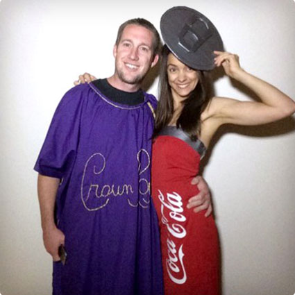 102 best halloween couples costumes of all time 50 diy ideas diy crown and coke couples costume solutioingenieria Images