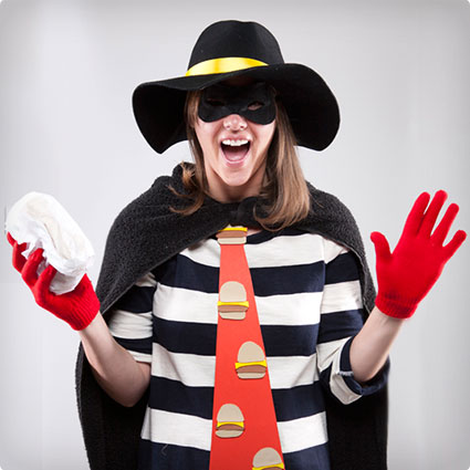 DIY Hamburgler Costume