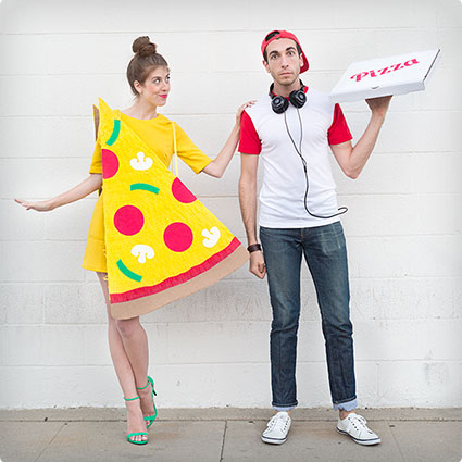Delivery Boy and Pizza Slice Costumes