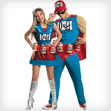Duffman Couples Costumes