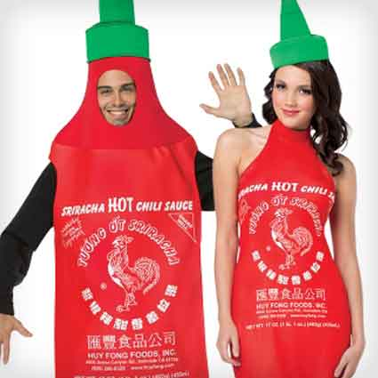 Hot Sriracha Couples Costumes