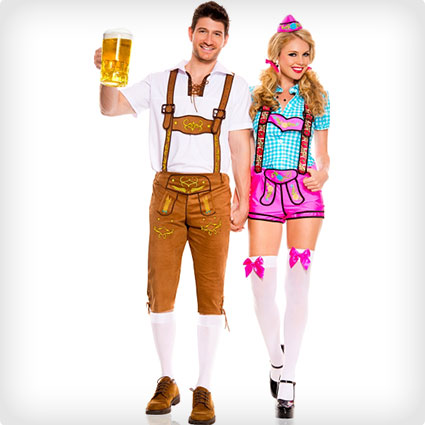 Lederhosen Beerfest Couples Costumes
