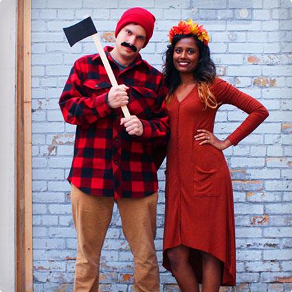 Lumberjack and Tree Costumes