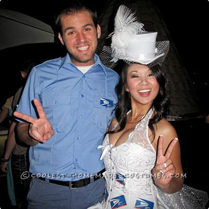 Mail Order Bride and Mailman Costumes
