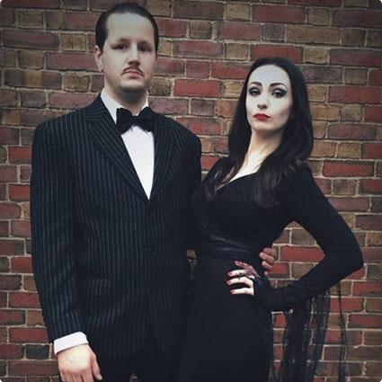 Morticia and Gomez Addams Costumes
