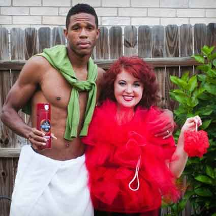 Old Spice Man and Loofah Costumes