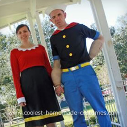Popeye and Olive Costumes