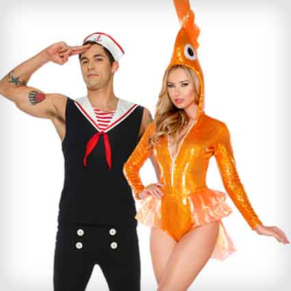 Sailor and Goldfish Costumes