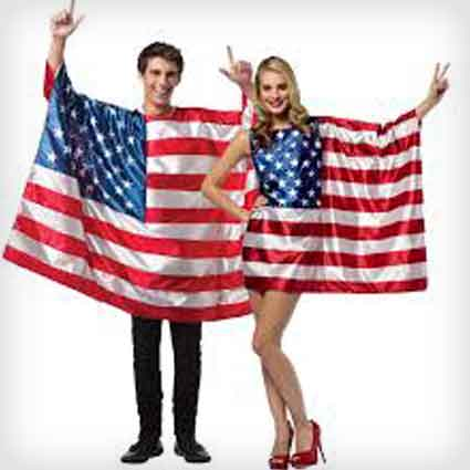 USA Flags Couples Costumes