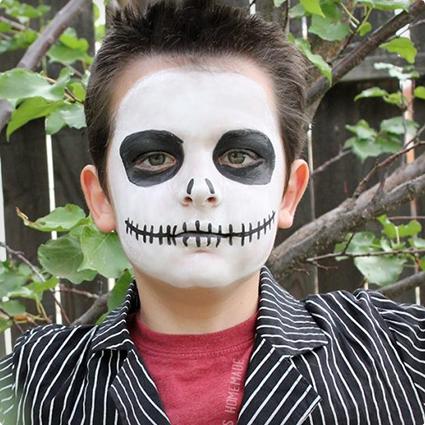 15 Minute Jack Skellington MakeUp