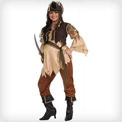 Pregnant Pirate Queen Costume
