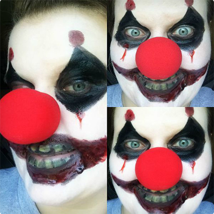 Scary Clown Make up Tutorial