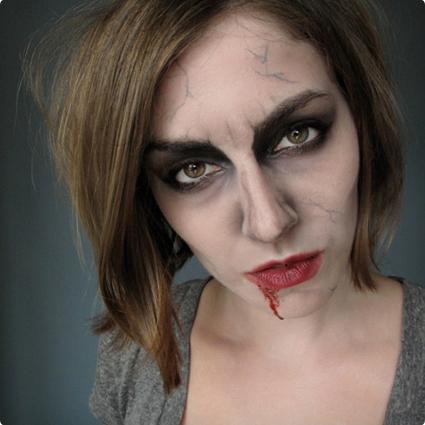 Vintage Zombie Make Up Tutorial