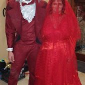 Beetlejuice Wedding Tux and the Bride (In Red)