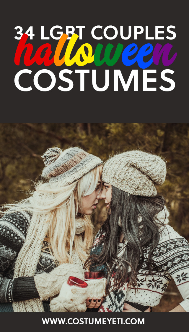 These are great Halloween costume ideas for LGBT couples! So good, haha.