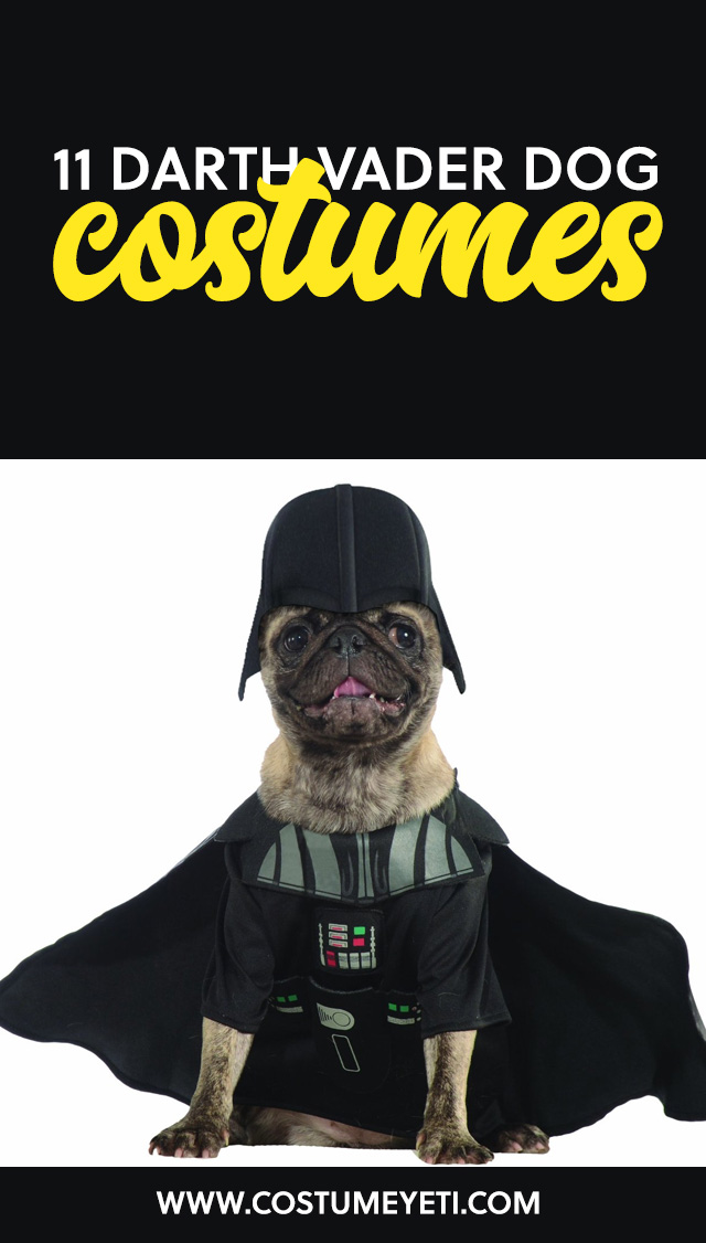 Here are some great Darth Vader dogs costumes if your furry one tends to lean towards the dark side of the force.