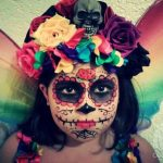 Pretty & Colorful Day of the Dead Fairy Kids Costume