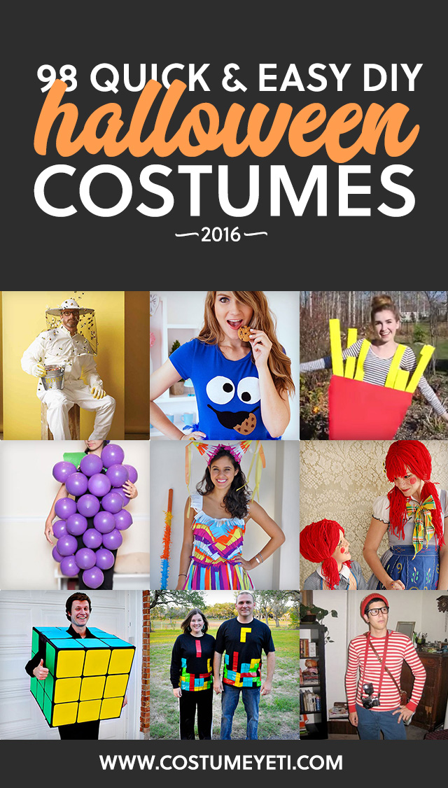 This is the holy grail for unique and easy DIY Halloween costumes for 2016! Love it.