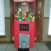 Homemade Gumball Machine Costume