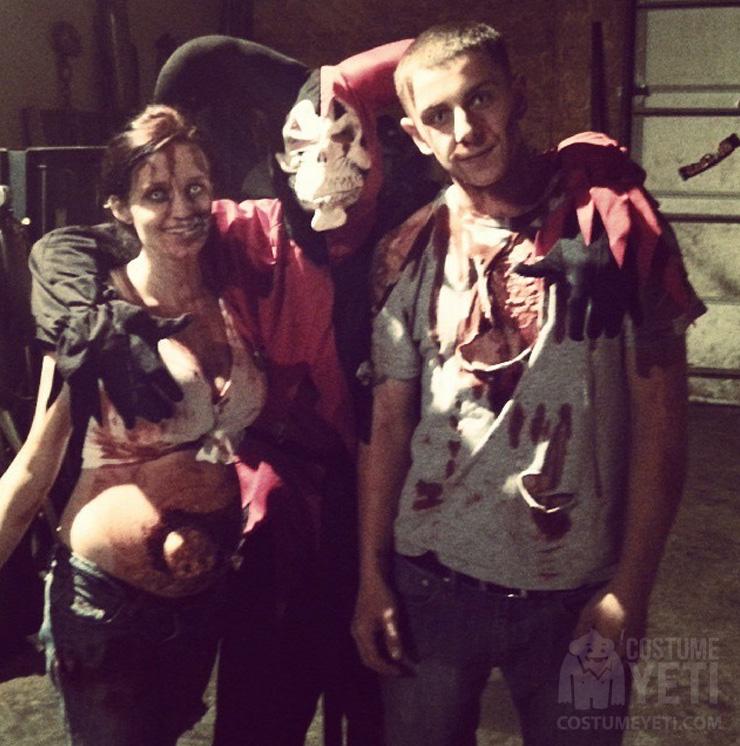 zombie parent couple costume