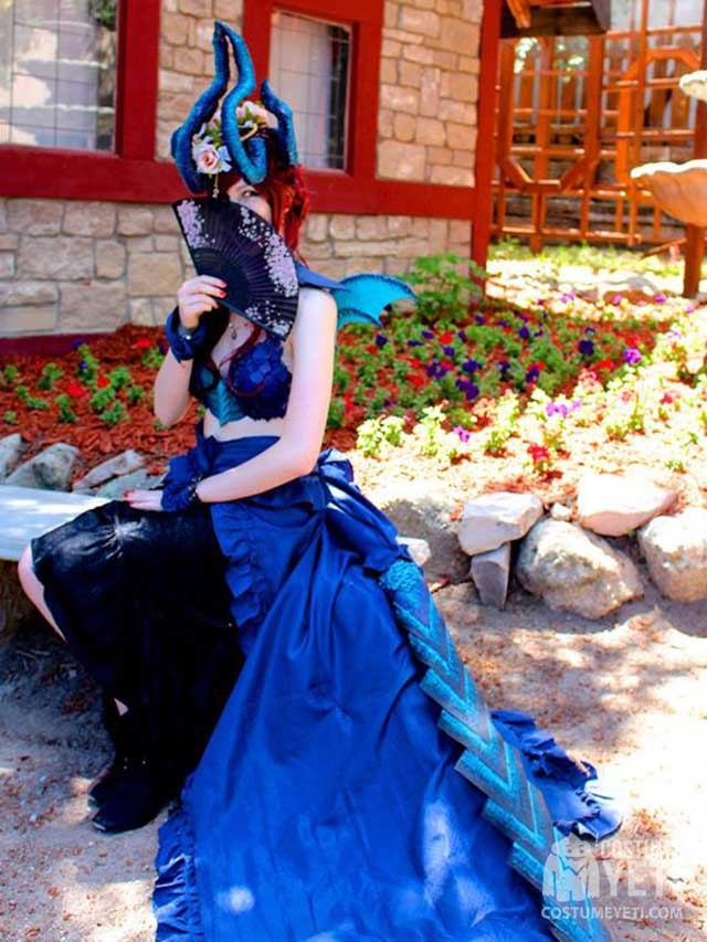 Fierce Blue Dragon Costume
