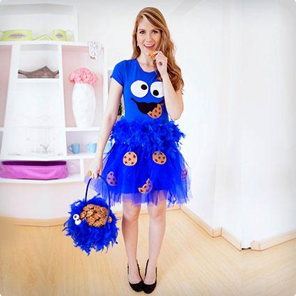 Cute DIY Cookie Monster Dress