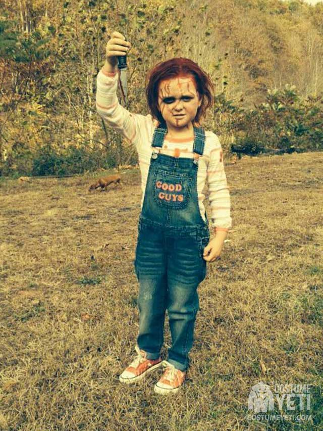 Kids Chucky Costume and Makeup