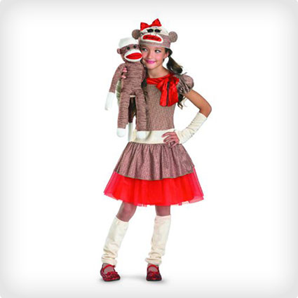 Sock Monkey Girl Costume