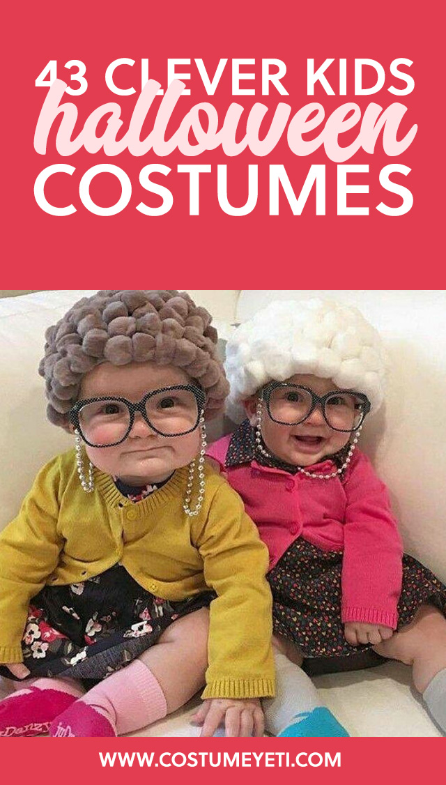 Love these clever and unique Halloween costume ideas for kids! Way better than the uber-branded Halloween costumes.