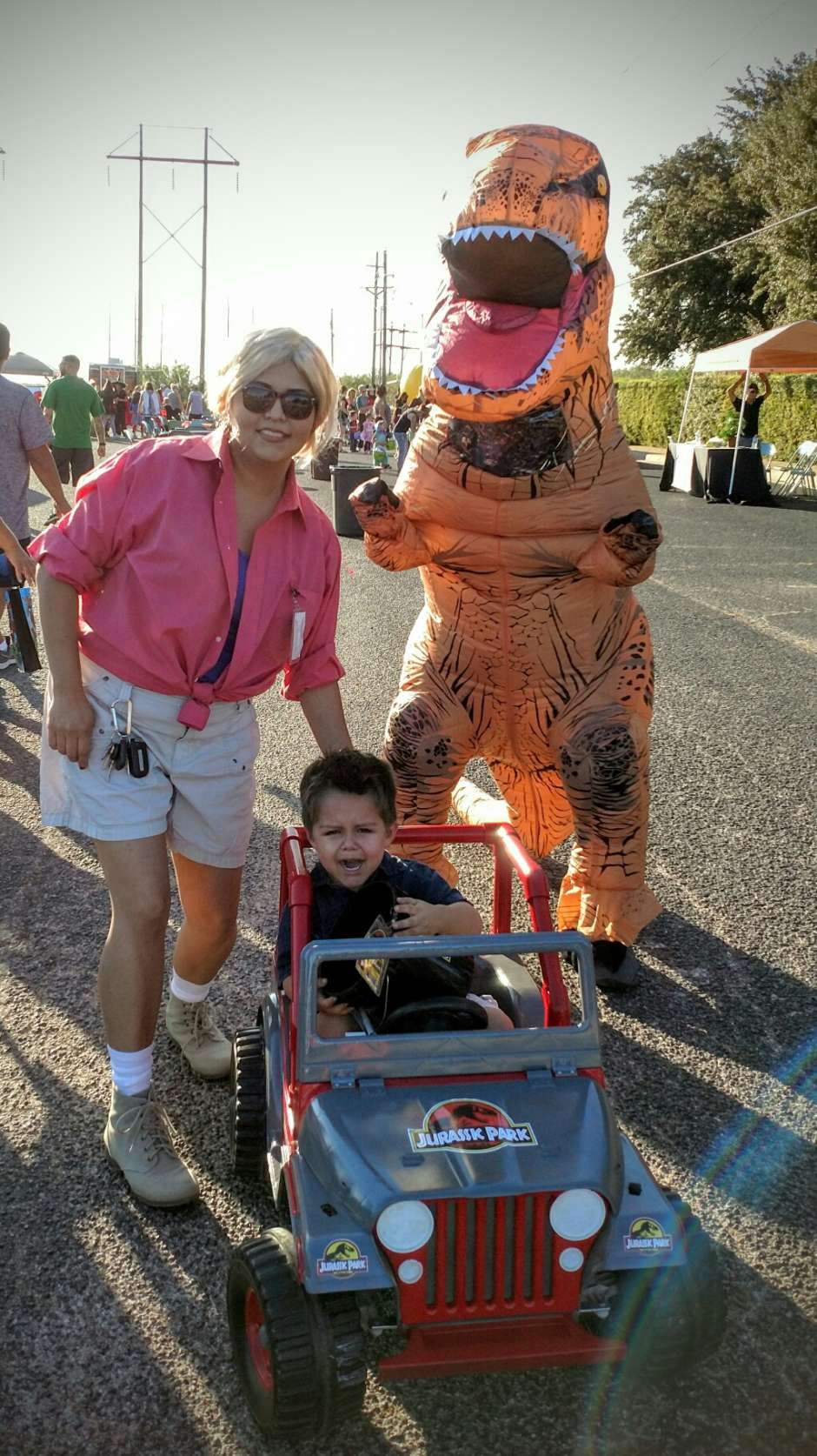 family inflatable dinosaur costume