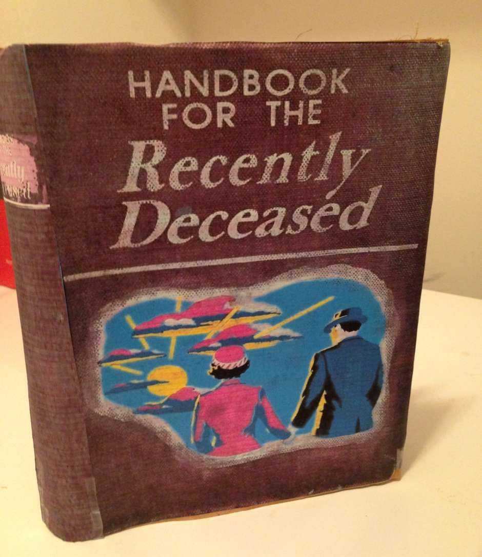 Printable Book Cover Handbook For The Recently Deceased : Miss argentina from beetlejuice costume yeti