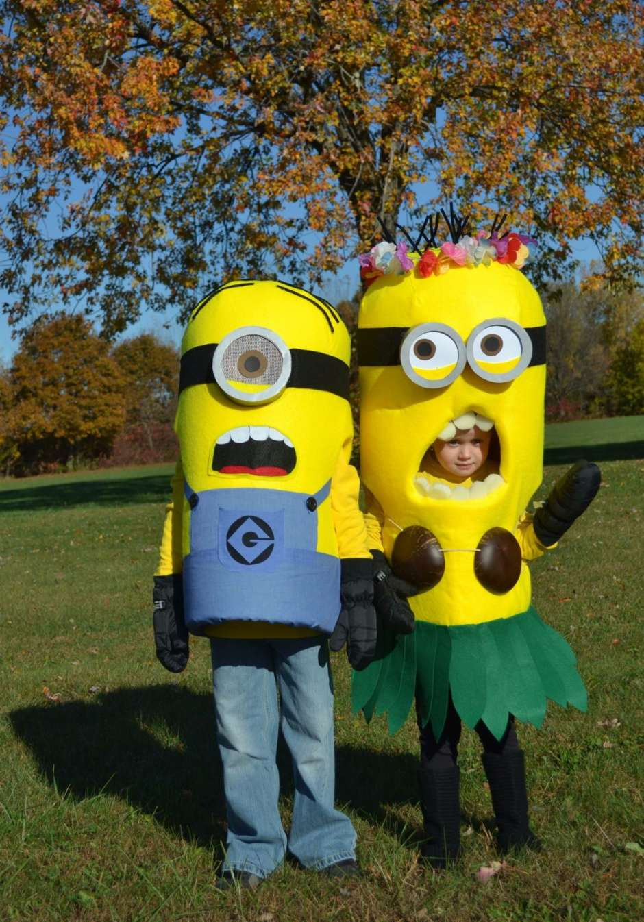 diy minions kids costume