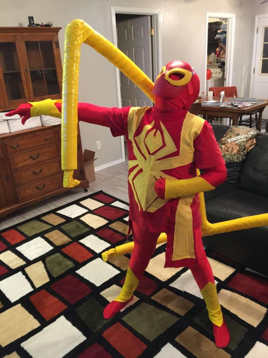 homemade spider-man costume